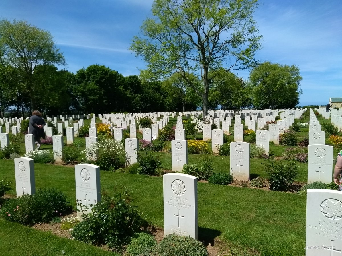 The Bény-sur-Mer Canadian war cemetery in Normandy